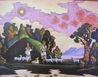 Кришна-Лель (Святой пастырь). Репродукция А3 (плакат).