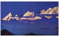 Гималаи (Канченджанга). 1933. Репродукция B2 (плакат).
