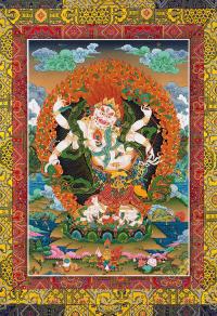 Открытка Белый Махакала — дарователь богатств (18,5 х 27 см).