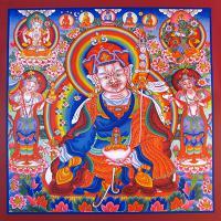 Плакат Падмасамбхава (30 x 30 см).