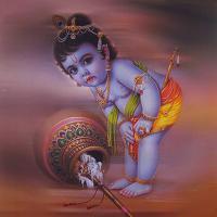 Плакат Маленький Кришна (30 x 30 см).