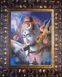 Плакат Господь Шива выпивает океан яда (29 х 36 см).