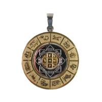 Амулет крутящийся с астрологическими символами.