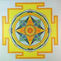 Плакат Янтра Юпитера (30 х 30 см).