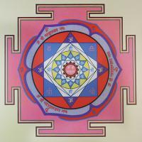 Плакат Янтра Венеры (30 х 30 см).