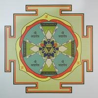 Плакат Янтра Раху (30 х 30 см).