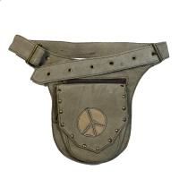 Сумка-карман на пояс (серая, объем по талии от 72 см до 94 см).