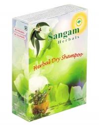 Травяной сухой шампунь Sangam Herbals.