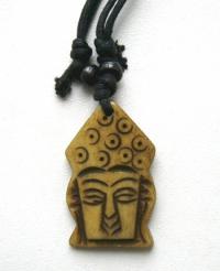 Амулет Голова Будды (жёлтый).