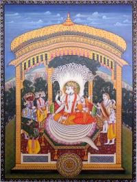 Купить Плакат Нарасимха (30 x 40 см) в интернет-магазине Ариаварта