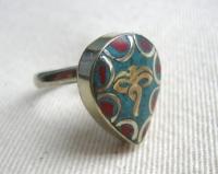 Купить Кольцо безразмерное в виде капли с Глазами Будды в интернет-магазине Ариаварта