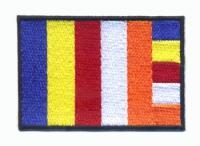 """Нашивка """"Буддийский флаг"""", 5 x 7,5 см."""