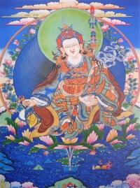 Плакат Падмасамбхава (синий фон, 30 x 40 см).