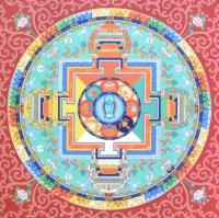 Плакат Мандала Зеленой Тары (30 х 30 см).
