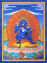 Плакат Дзамбала синий (30 x 40 см).
