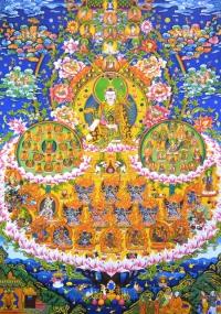 Плакат Древо Прибежища Гуру Падмасамбхавы (28 x 40 см).
