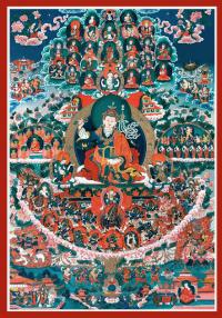 Плакат Древо Прибежища Тхукдруб Барче Кунсел (28 x 40 см).