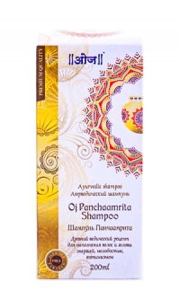 Аюрведический шампунь Одж Панчаамрита (Oj Panchaamrita Shampoo) 200 мл.