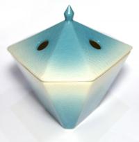Керамическая подставка-аромалампа Синий плющ.