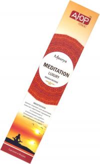 Купить Благовоние Meditation Ayur Plus (Медитация), 12 палочек по 23 см в интернет-магазине Ариаварта