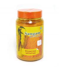 Куркума молотая Sangam Herbals (140 г).