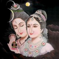 Открытка Шива и Парвати (13 x 13 см).