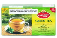 Чай зеленый с мятой Вагх Бакри (Wagh Bakri — Green Tea With Mint) 37,5 г (25 пакетиков).