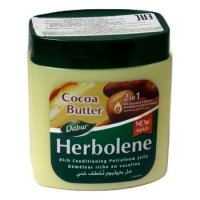 Вазелин косметический Dabur Herbolene с маслом какао и витамином Е (увлажняющий) 225 мл.