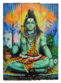 Изображение на досках Шива (28 x 40 x 4 см).