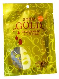 Маска для лица тканевая золотая JINNAI, Ровный тон и увлажнение (30 г).