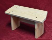 Скамейка для медитации с изображением собачки (нескладная).