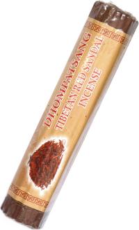 Благовоние Dhompatsang Tibetan Red Sandal Incense, 50 палочек по 21 см.