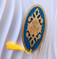 Шкатулка с изображением Белой раковины (синяя).