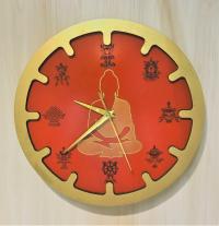 """Часы """"Будда"""" (красные, диаметр 30 см)."""