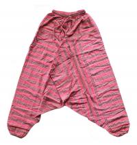 Штаны Али-Баба полосатые, розовые.