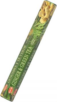 Благовоние Ginger and Green Tea (Имбирь и зеленый чай), 20 палочек по 24 см.