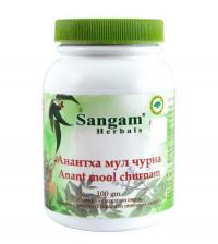 Анантха мул чурна (Anant mool churnam) Сангам Хербалс, 100 г.