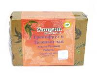 Мыло Sangam Herbals Грейпфрут и Зеленый чай (100 г).