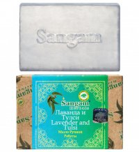 Мыло Sangam Herbals Лаванда и Тулси (100 г).