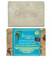 Мыло Sangam Herbals Ниим и Тулси (100 г).