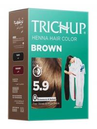 Краска для волос на основе хны Trichup (коричневая), 60 г.