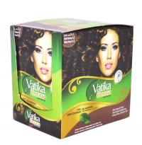Хна для окраски волос Dabur Vatika Henna Hair Colors (темно-коричневая), 20 пакетиков.