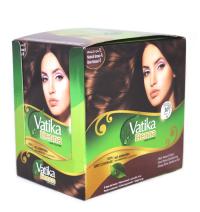 Хна для окраски волос Dabur Vatika Henna Hair Colors (коричневая), 20 пакетиков.