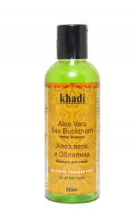 Шампунь для волос Khadi Алоэ вера и Облепиха, 210 мл.