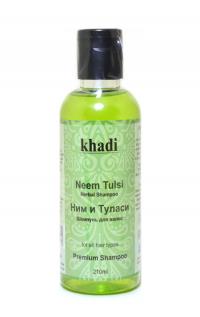 Шампунь для волос Khadi Ним и Туласи, 210 мл.