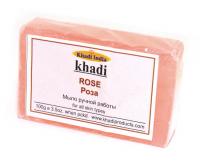 Мыло ручной работы Khadi Роза, 100 г.