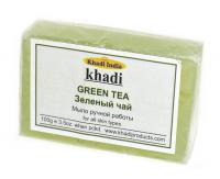 Мыло ручной работы Khadi Зеленый чай, 100 г.