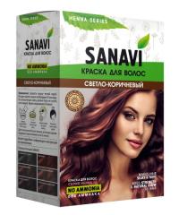 Краска для волос Sanavi, тон Светло-Коричневый, 75 г.