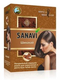 """Порошок-маска для волос """"Шикакай"""" Sanavi, 100 г."""