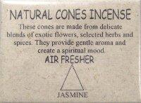 Купить Natural Cones Incense Jasmine (Натуральное конусное благовоние Жасмин), 25 конусов по 3 см в интернет-магазине Ариаварта